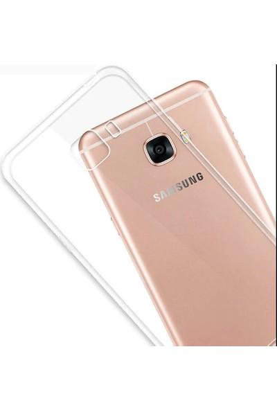 EFSUNKAR.Samsung Galaxy J7 Prime Ultra Şeffaf İnce Silikon Lüx Kılıf