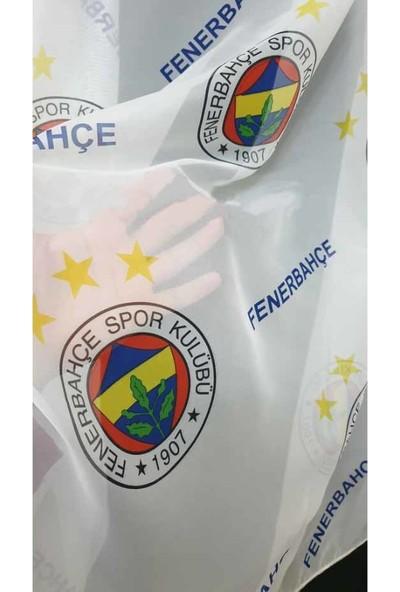 Caserta Home Pilesiz Lisanslı Çocuk Genç Odası Fenerbahçe FB Vual Tül Perde - 50x100 cm