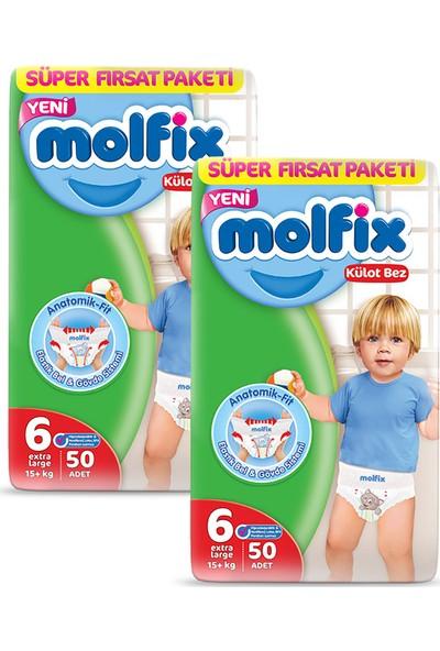 Molfix Külot Bez 6 Beden Ekstra Large Aylık Fırsat Paketi 100 adet