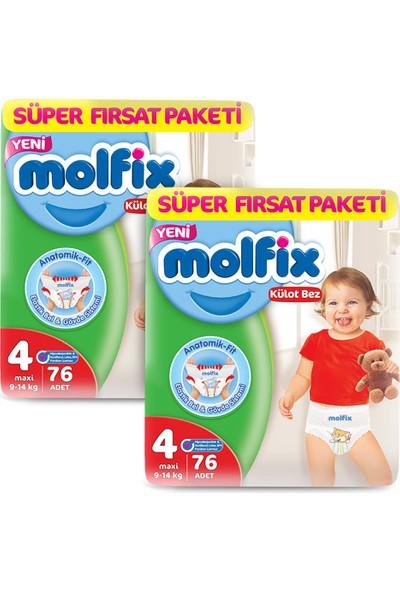 Molfix Külot Bez 4 Beden Maxi Aylık Fırsat Paketi 152 adet