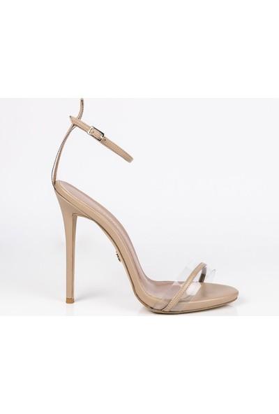 J'abotter Amy Karamel Deri İnce Topuklu Ayakkabı