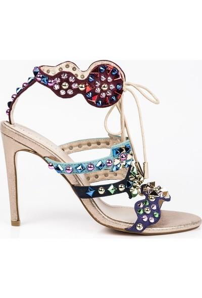 J'abotter Chris Renkli 10 Cm İnce Topuklu Ayakkabı