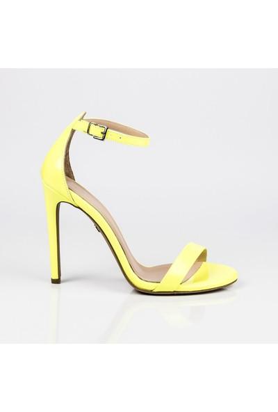 J'abotter Elegant Mini Sarı Neon 10 Cm Topuklu Ayakkabı