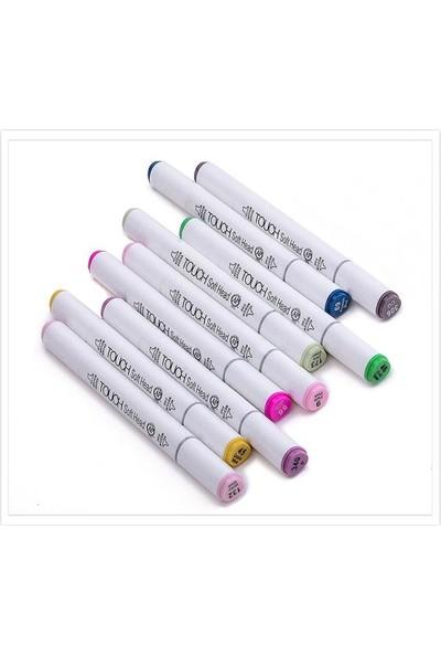 Superior Art Marker Seti Çift Uçlu Grafik Kalemi 24 Renk Plastik Çanta