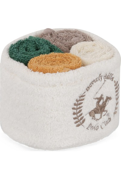 Beverly Hills Polo Club Polo El Kurulama Havlu Seti 30 x 30 cm (4) Alinda - V11 Beyaz bal vizon k.yeşil