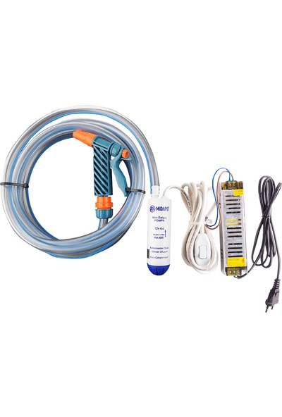 Midapo Küçük 12V-220V Mini Dalgıç Pompa Seti