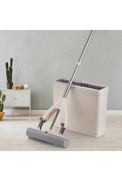 Spin Sünger Mop Yeni Pva Mop Temizlik Seti + 1 Yedek Başlık