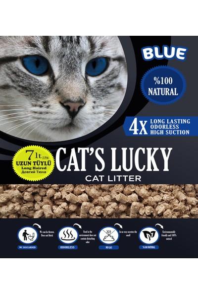 Cat's Lucky Organik Kedi Kumu Blue Seri 7 l