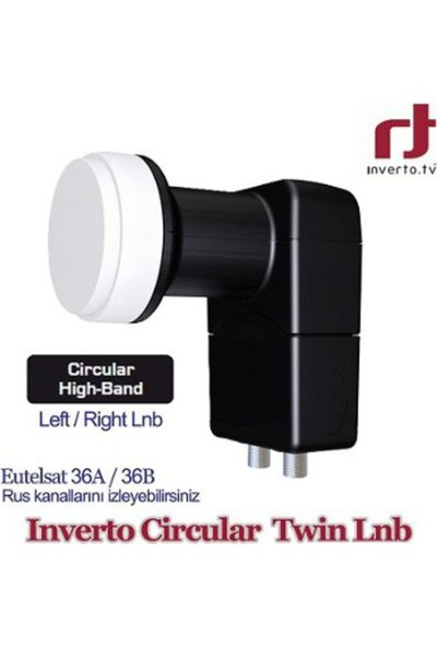 İnverto Circular Twin Çift Çıkışlı Lnb