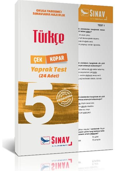 Sınav Yayınları 5. Sınıf Türkçe Yaprak Test