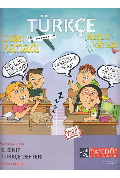 Pandül Yayınları 6. Sınıf Türkçe Defteri - Demet Kuzey