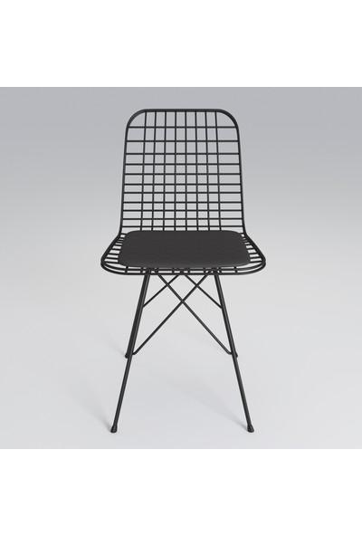 Theia Tel Sandalye 2'li Set Kafe Mutfak Sandalyesi
