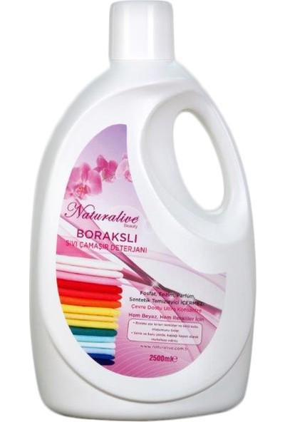 Naturalive Borakslı Sıvı Çamaşır Deterjanı 2,5lt