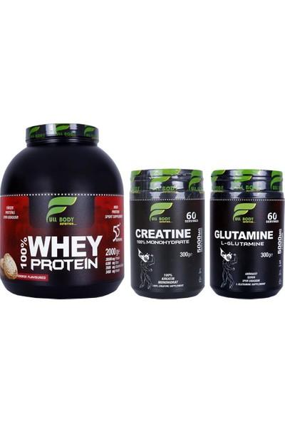 Whey Protein Kurabiye + Creatine Aromasız + Glutamine Aromasız