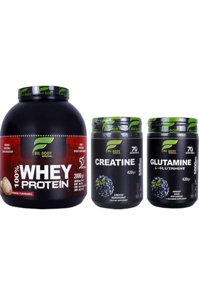 Whey Protein Kurabiye + Creatine Böğürtlen + Glutamine Böğürtlen