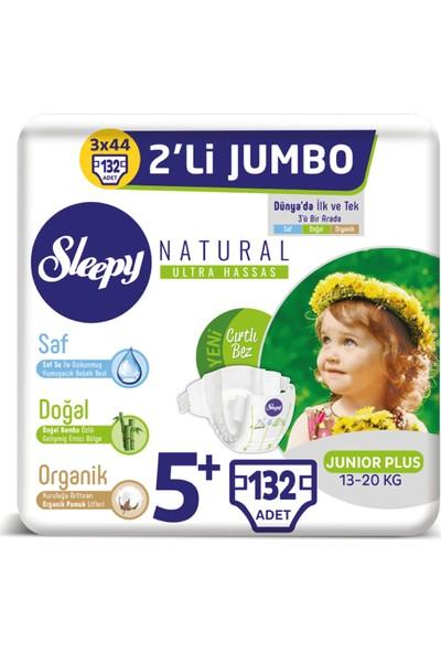 Sleepy Natural Bebek Bezi Ikili Jumbo 5+ Numara 44X3 (132 Adet)