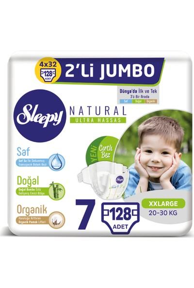 Sleepy Natural Bebek Bezi Ikili Jumbo 7 Numara 32X4 (128 Adet)