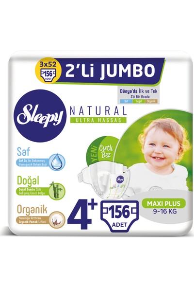 Sleepy Natural Bebek Bezi Ikili Jumbo 4+ Numara 52X3 (156 Adet)