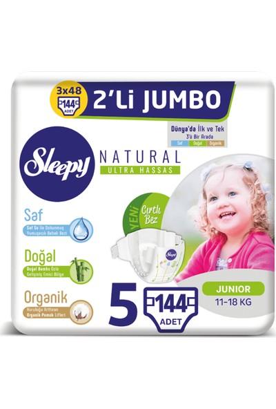 Sleepy Natural Bebek Bezi Ikili Jumbo 5 Beden 48X3 (144 Adet)