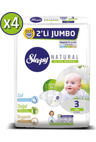 Sleepy Natural Bebek Bezi Ikili Jumbo 3 Beden 68X4 (272 Adet)