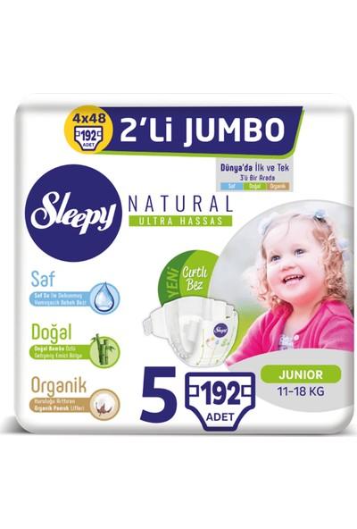 Sleepy Natural Bebek Bezi Ikili Jumbo 5 Beden 48X4 (192 Adet)