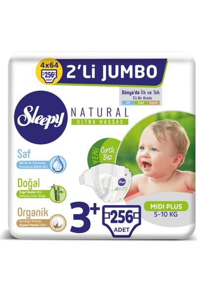 Sleepy Natural Bebek Bezi Ikili Jumbo 3+ Numara 64X4 (256 Adet)
