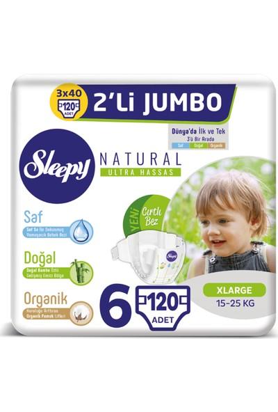Sleepy Natural Bebek Bezi Ikili Jumbo 6 Beden 40X3 (120 Adet)