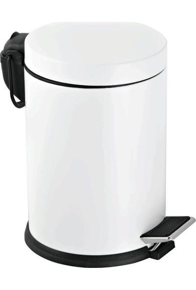 Efor Pedallı Çöp Kovası Beyaz 5 lt