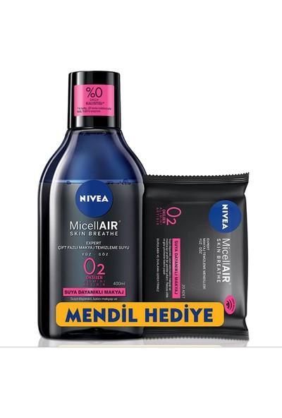 Nivea Micellair Skin Breathe Çift Bazlı Makyaj Temizleme Suyu + Mendil