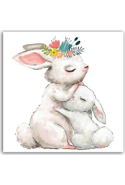 Diji Kanvas Bebek Tavşan ve Anne Çocuk Odası Kanvas Tablo