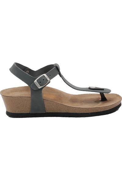 Ballerin's Kadın Lacivert Sandalet