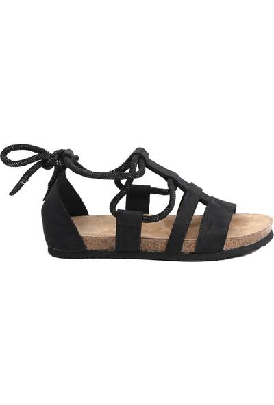 Ballerin's Kadın Siyah Sandalet