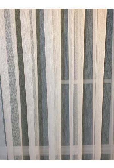 Linens Perdelife Ince Çizgili 1 x 3 Pile Tül Perde