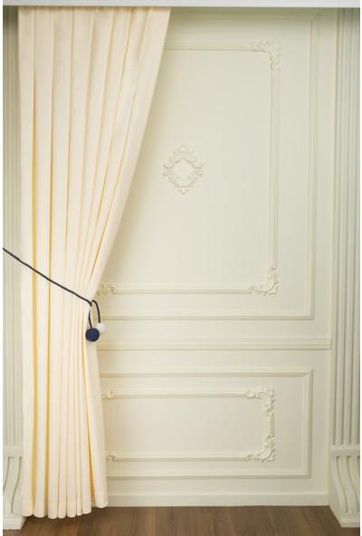 Fersa Decor Petek Kırık Beyaz Fon Perde- Büzgü Pile