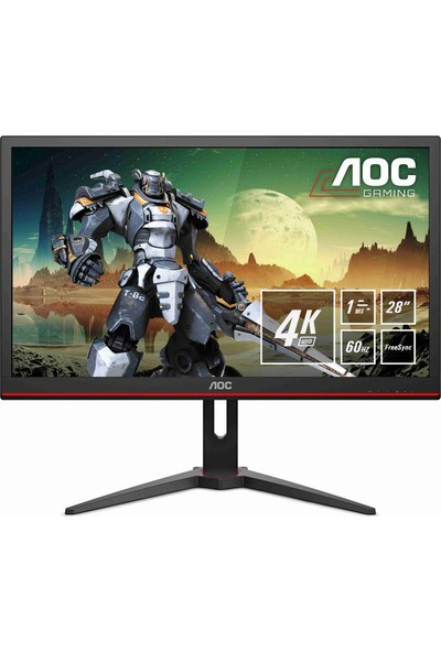 "AOC G2868PQU 28"" 1ms (Analog+HDMI+Display) FreeSync 4K Monitör"