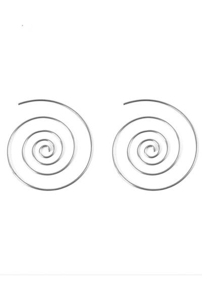 Estel Gümüş Spiral Halka Küpe