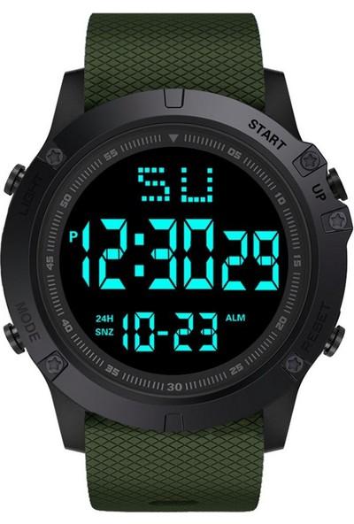 GOB2C Erkek Su Geçirmez Dijital Kol Saati Yeşil