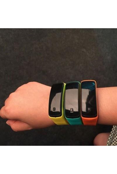 GOB2C Erkek Kadın Dijital LED Silikon Kayış Kol Saati Açık Mavi