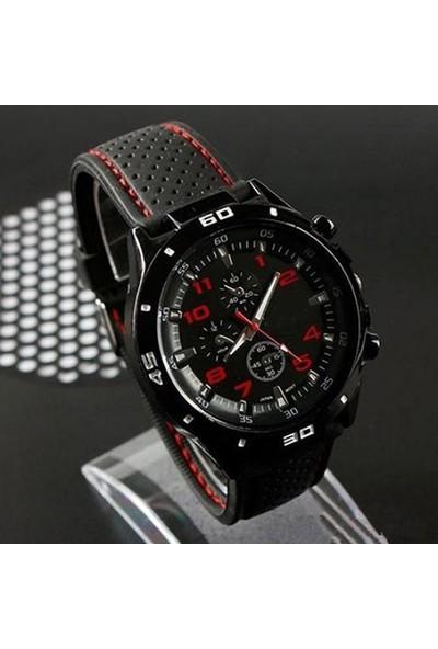 GOB2C Erkek Silikon Kayış Spor Kol Saati Kırmızı