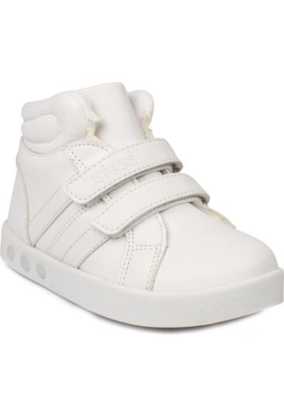 Vicco 313.B19K.104 Bebe İşıklı Cırtlı Beyaz Çocuk Bot