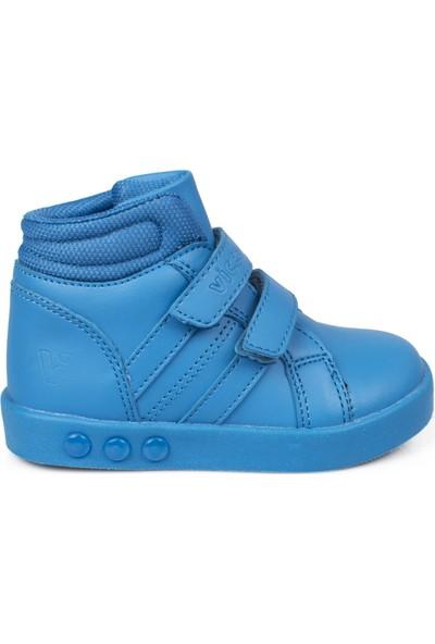 Vicco 313.B19K.104 Bebe İşıklı Cırtlı Mavi Çocuk Bot