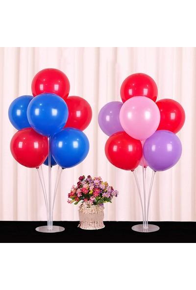 Balon Evi 2 Adet Ayaklı Balon Standı - Dekoratif 7 Li Balon Standı