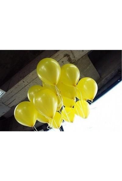 Balon Evi 25 Adet Sarı Metalik Sedefli 12 İnç Helyumla Uçan Balon