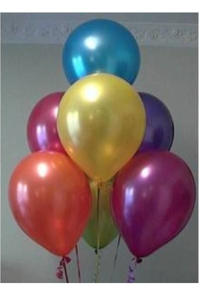 Balon Evi 25 Karışık Parlak Metalik Sedefli Balon Helyumla Uçan
