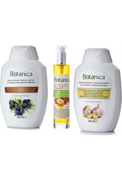 Botanica Saç Dökülmesine Çözüm - Saç Dökülme Önleyici - Saç Dökülmesine Karşı Bitkisel ve Organik Saç Bakım Seti
