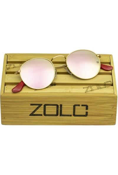Zolo Eyewear 1980 C04 Round Pembe Ayna Unisex Güneş Gözlüğü