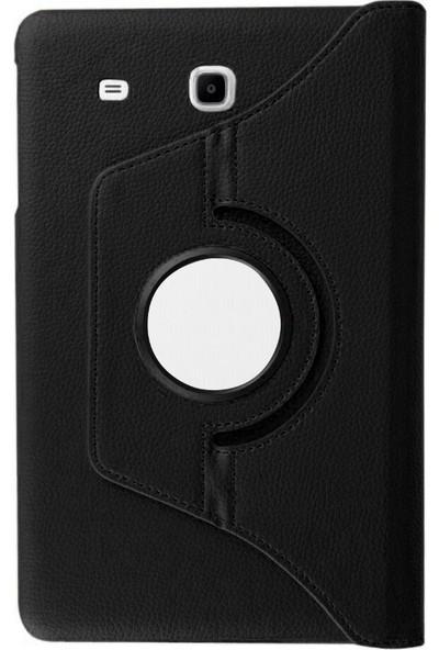 Microcase Samsung Galaxy Tab A6 T280Q T280 T285 T287 7 Inch Tablet 360 Derece Döner Standlı Deri Kılıf - Siyah
