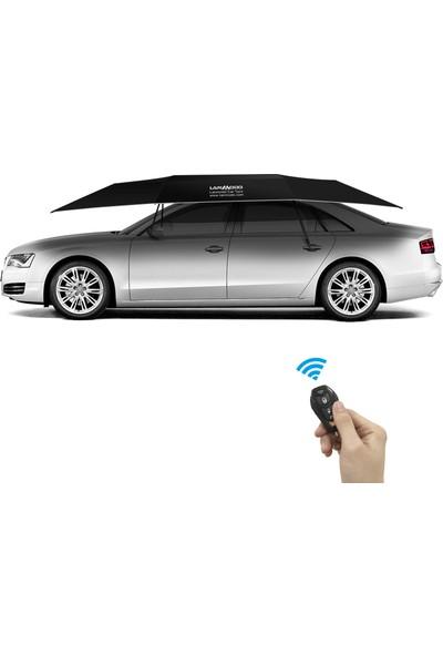 Lanmodo Otomatik Standart Araç Şemsiyesi Tentesi Siyah
