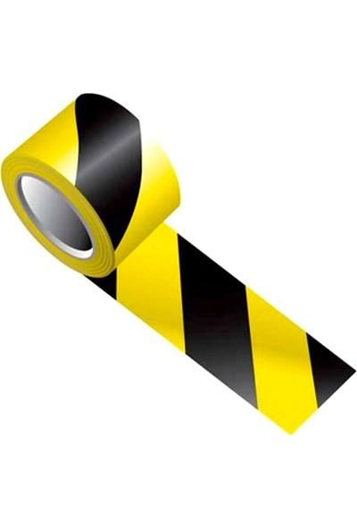 Metroplast Emniyet Şeridi Sarı-Siyah 500 M, İkaz Bandı