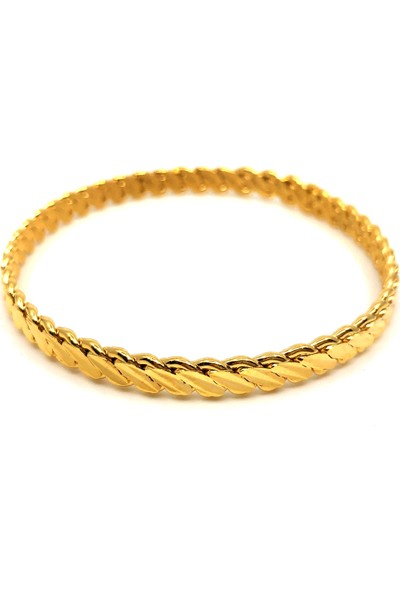 Galip Gold Altın Kaplama 3Lü Burma Bilezik - 6,2